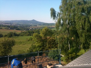 Der Ausblick von unserem Dach auf das Siebengebirge