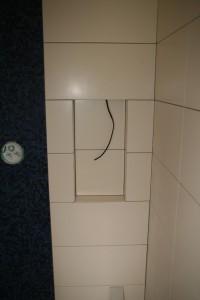 Gefliestes Duschfach