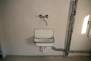 Ausgussbecken in der Waschküche