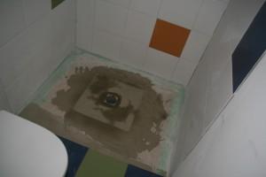 Duschbereich im Gästebad