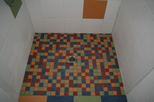 Mosaik im Gäste-WC