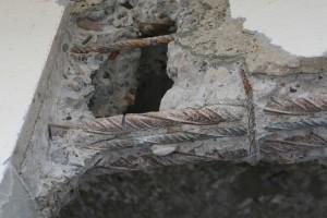 Die Stahlarmierung im Sturz