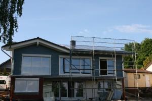 Unser Haus mit Photovoltaik-Anlage