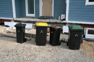 Sammlung unserer Abfallentsorgungsbehälter