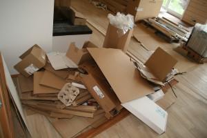 Verpackungsabfall der Küche