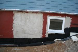 Verputzte Tür- und Fensteröffnung