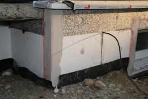 Einbau der Eckschutzschienen mit Gewebeansatz