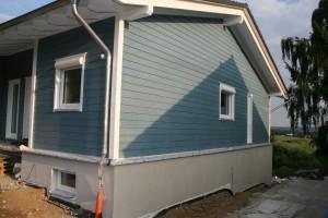 Haus mit fertigem WDVS