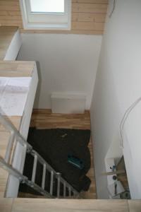 Bevor alles beginnt: unser Treppenhaus als Leiterhaus