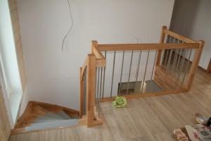 Die fertige Treppe im Erdgeschoss